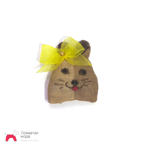 Бантик для собаки Мышка