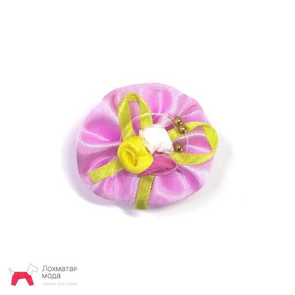 Бантик для собаки с цветами