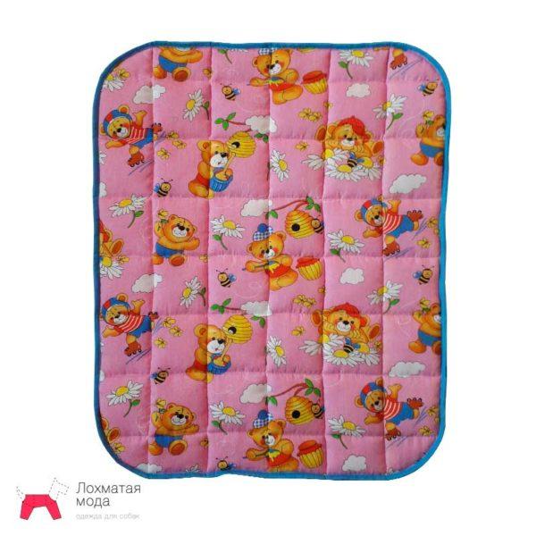 многоразовая пеленка для собак розовая