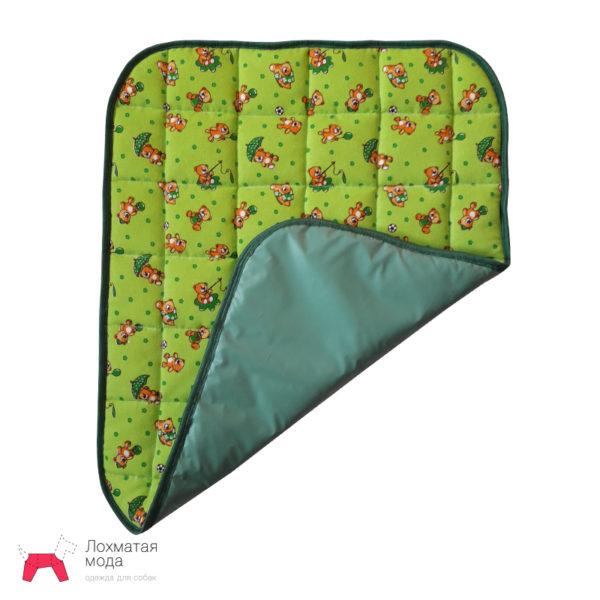 Многоразовая пеленка для собак зеленая