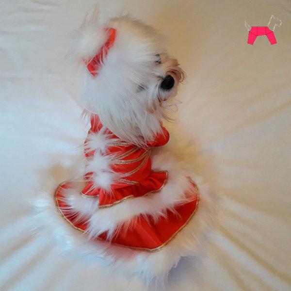 костюм снегурочки для собаки