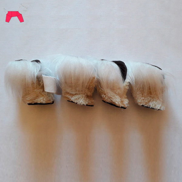 сапожки белые меховые