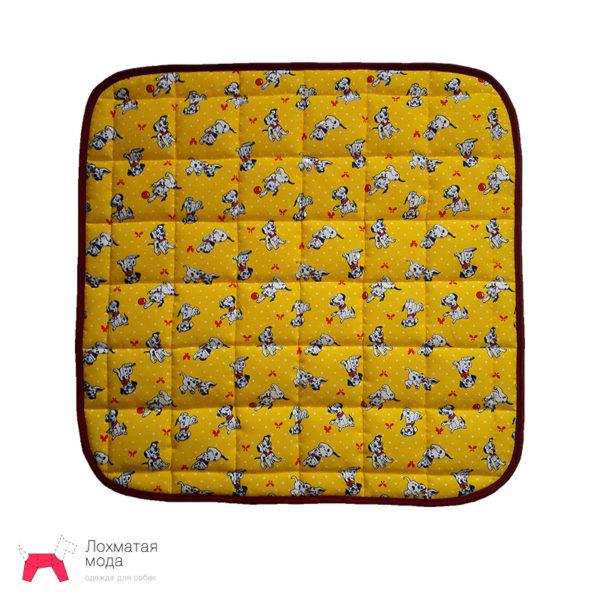 Многоразовая пеленка для собаки жёлтая с щенком далматинца