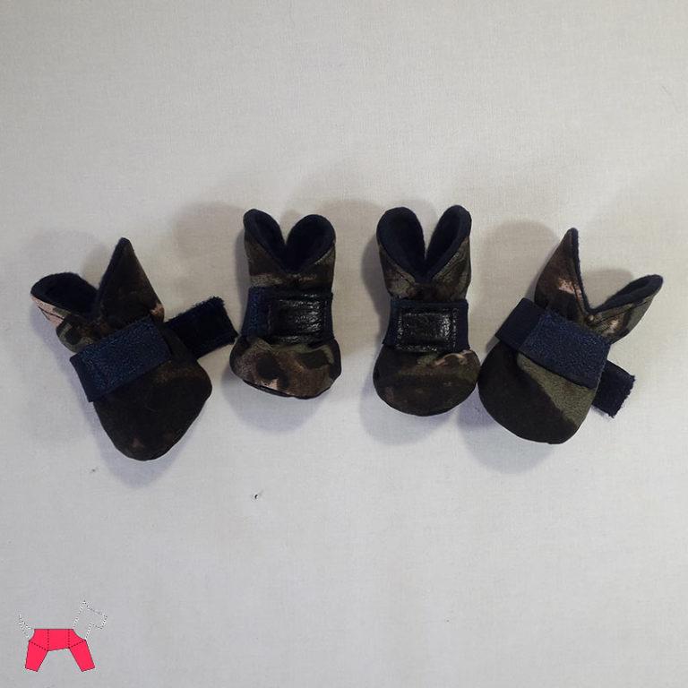 Обувь для собаки - Сапожки камуфляж