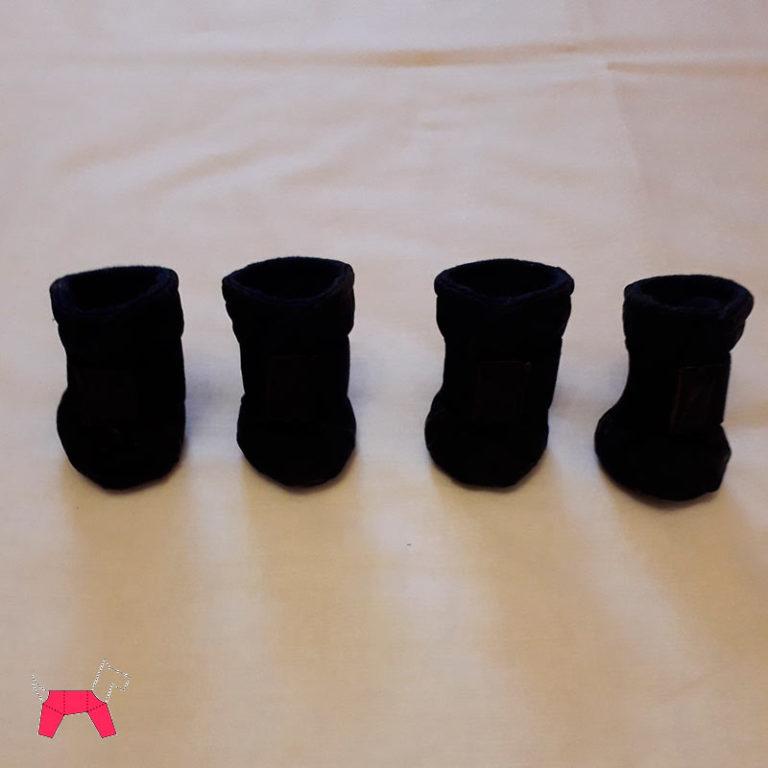сапожки для собаки черные зима