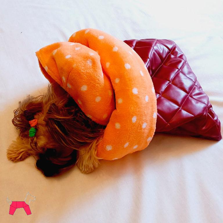 конверт-переноска для собак бордовый