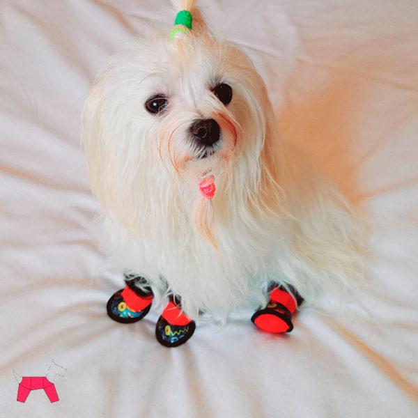 Сапожки для собаки зимние с искусственным мехом